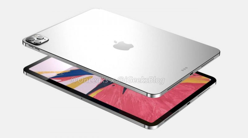 12-дюймовый iPad Pro с 3D сенсором ToF появится в следующем месяце
